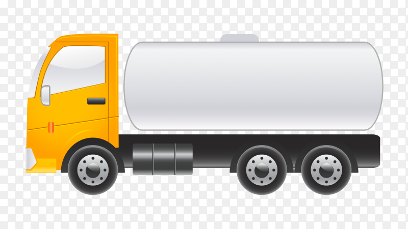 Fuel truck  on transparent background PNG