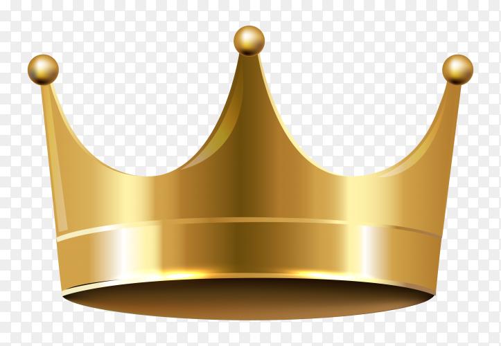 Gold crown design On transparent PNG