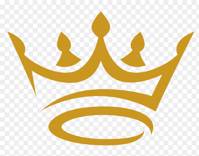 Gold crown icon vector PNG