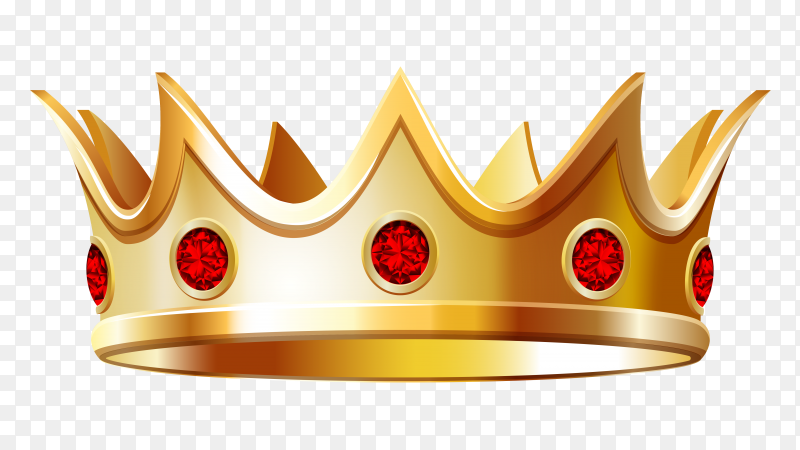 Gold crown on transparent background PNG