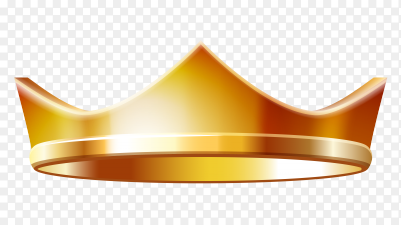 Gold crown vector PNG