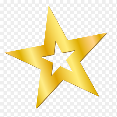Gold star Clipart PNG