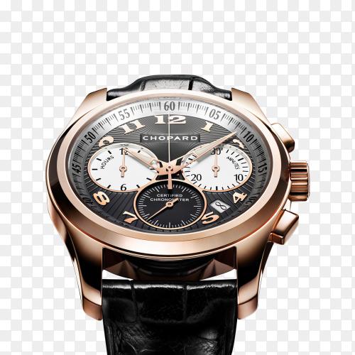 Golden 3D classic Watch original on trasparent background PNG