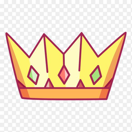 Golden Crown on transparent background PNG