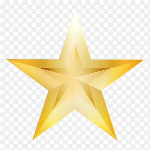Golden star Premium vector PNG