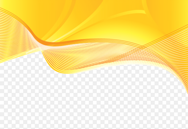 Golden waved shape on transparent PNG