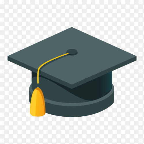 Graduation cap on transparent PNG