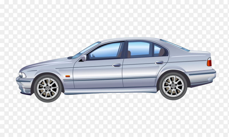 Gray car on transparent background PNG