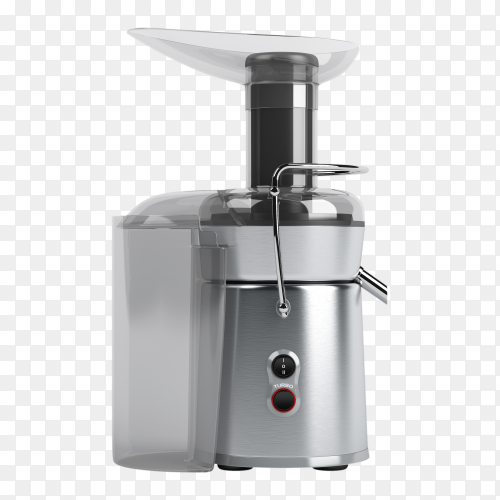 Gray juicer machine on transparent background PNG
