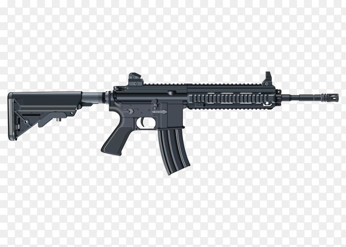 Gun illustration set Premium Vector PNG