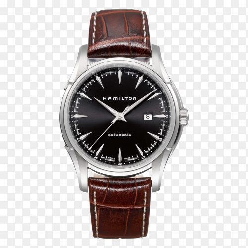 Brown original watch on transparent background PNG