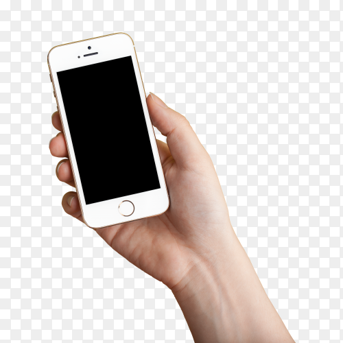 Hand holding smartfone clipart PNG