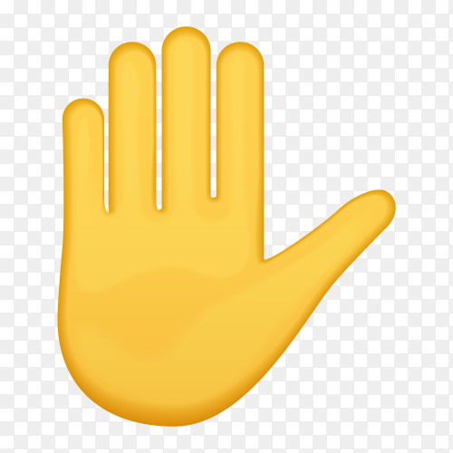 Hand with fingers splayed gestures on transparent PNG