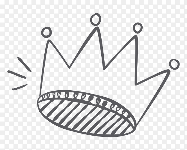 Handdrawn cartoon crown vector PNG