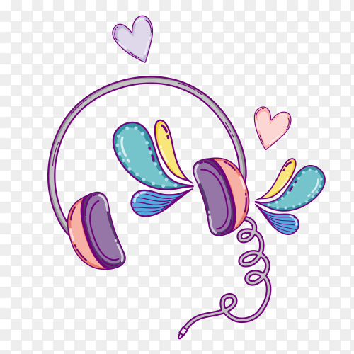 Headphone concept illustration Clipart PNG