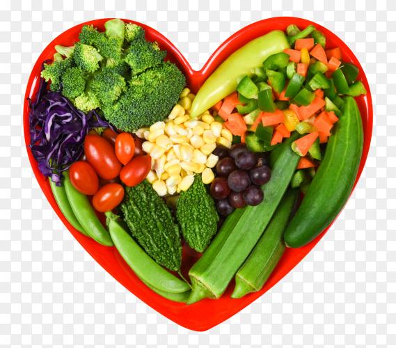 Healthy food fresh salad fruit and green vegetables on transparent background PNG