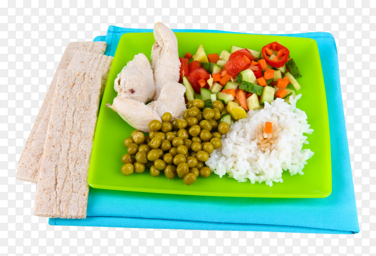 Healthy meal on transparent background PNG