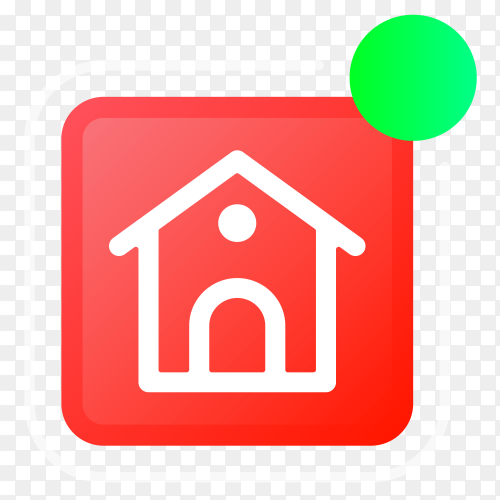 Homepage logo with notifications icon on transparent PNG