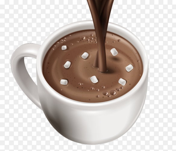 Hot chocolate drink on transparent PNG