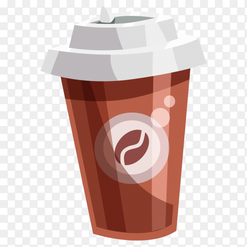 Hot coffee drink on transparent background PNG