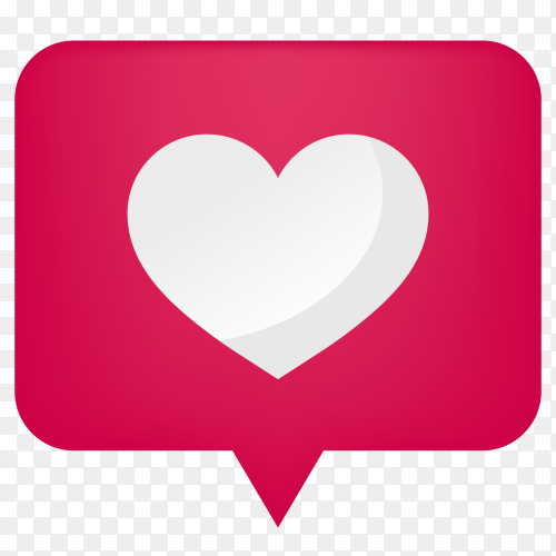 Icon of heart on social Media Clipart PNG