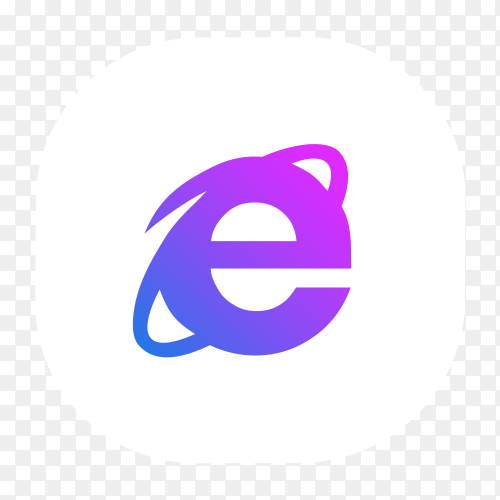 Internet Explorer logo blue purple glowing Clipart PNG