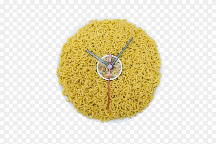 Ittalian pasta clock on transparent background PNG