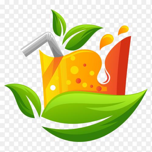 Juice logo design on transparent background PNG