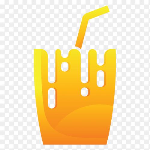 Juice logo template on transparent background PNG