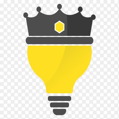 King light Bulb Idea Logo Clipart PNG