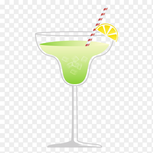 Lemon juice with ice on transparent background PNG