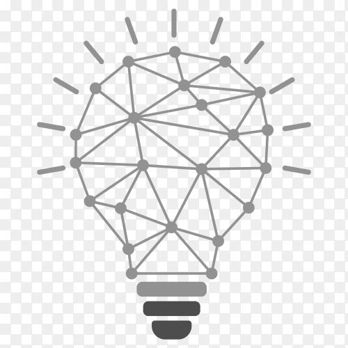 Lightbulb design on transparent background PNG