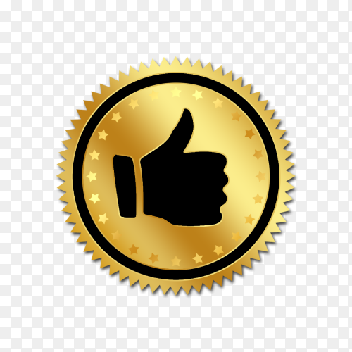 Like icon with golden circle Clipart PNG