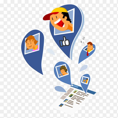 Like share facebook on transparent background PNG