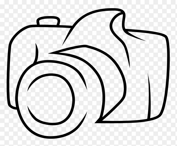 Line art camera symbol logo template Clipart PNG