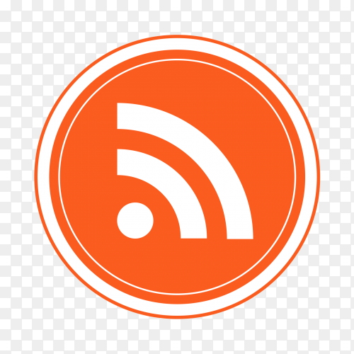 Logo RSS feeds popular social media icon Clipart PNG