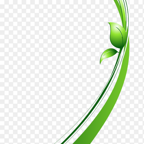 Long green plant clipart PNG