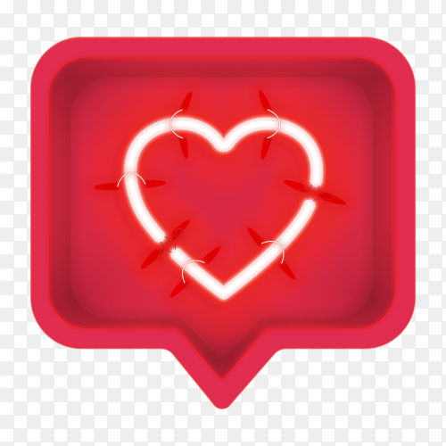 Love message icon on transparent background PNG