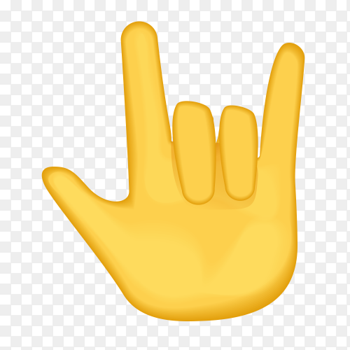 Love you gesture gestures emoji vector PNG