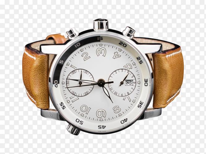 Man elegant watch on transparent background PNG