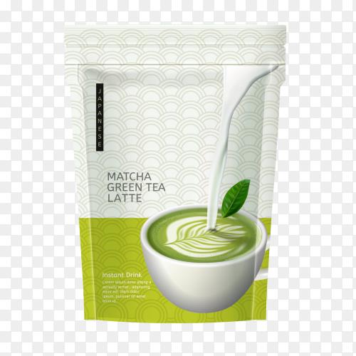 Matcha green tea latte Clipart PNG