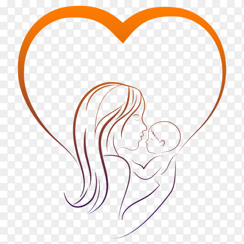 Maternity figure on transparent background PNG