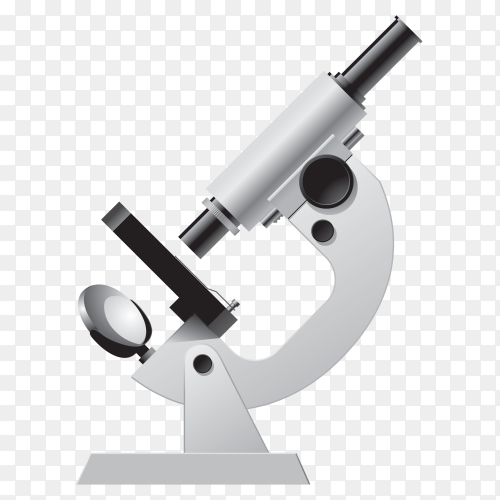 Medical Microscope on transparent PNG