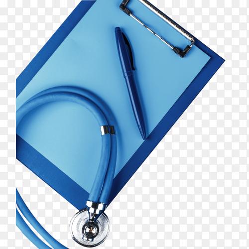 Medical stethoscope on transparent PNG
