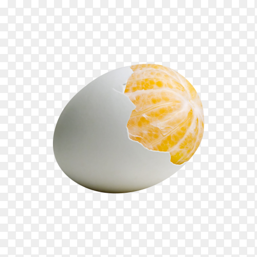 Merge an egg with an orange on transparent background PNG