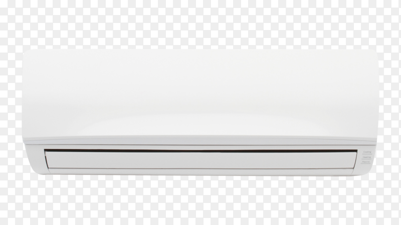 Modern air conditioning on transparent background PNG
