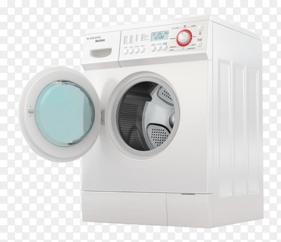 Modern automatic washing machine Clipart PNG