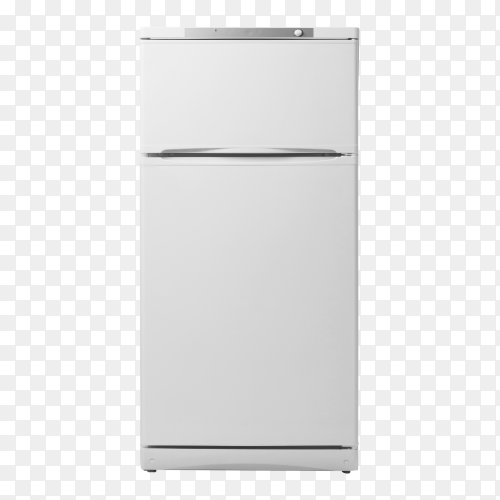 Modern fridge isolated on transparent background PNG