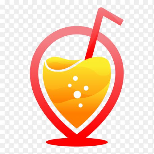 Modern juice colourfull logo Premium Vector PNG