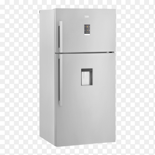 Modern refrigerator with a screen control Premium image PNG